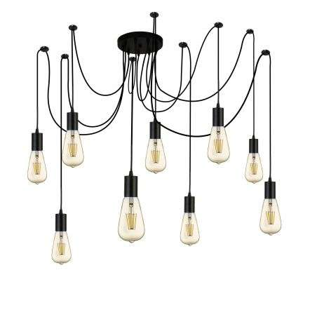 Searchlight 9669-9BK Squiggle 9 Light Spider Pendant Black