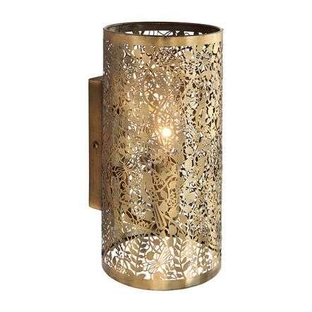 Secret Garden Wall Light in Antique Brass