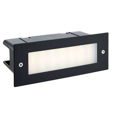 Seina Plain Black Brike Light IP44 3.5W Cool White