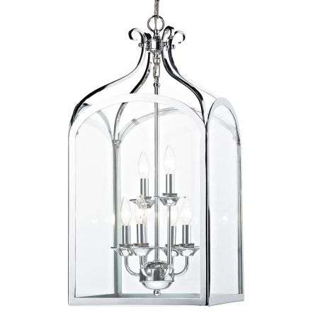 Senator 6 Light Pendant Polished Chrome