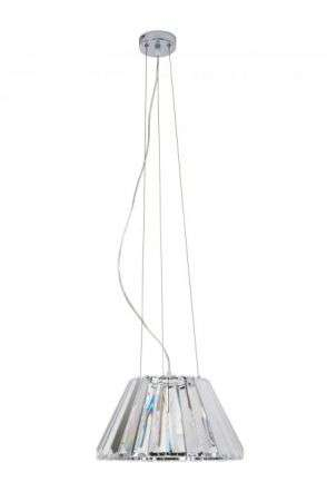 Senza 1 Light Polished Chrome Crystal Pendant