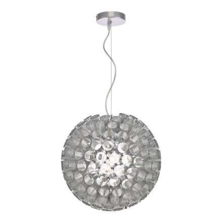 Serafina 1 Light Pendant Brushed Chrome Small