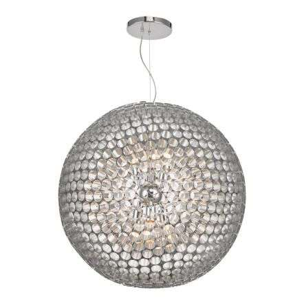 Serafina 6 Light Pendant Brushed Chrome Large