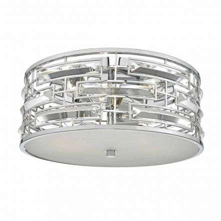 Seville 3lt Flush Polished Chrome & Crystal C/W Diffuser