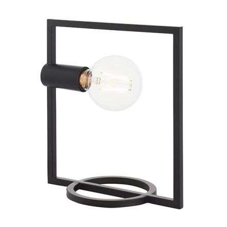 Shape Rectangle Table Lamp in Matt Black
