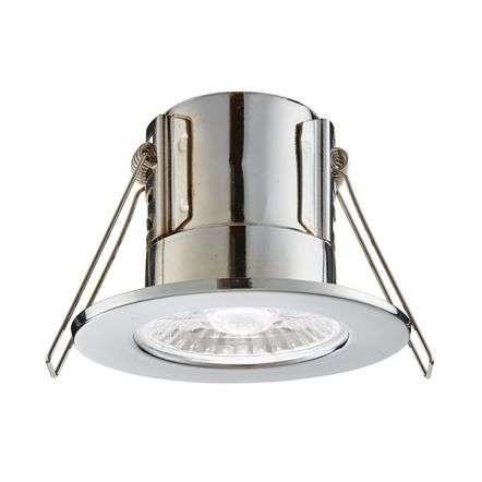 Shield 8.5W Downlight in Chrome Finish in Cool White