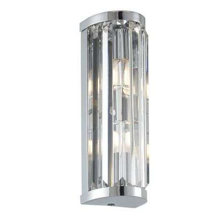 Shimmer 2 Light Wall Fitting in Chrome IP44
