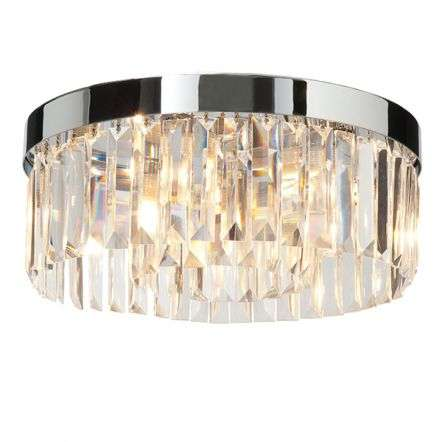 Shimmer 5 Light Flush Fitting in Chrome IP44