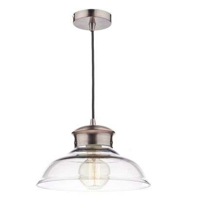 Siren Single Copper Pendant with Clear Glass Shade