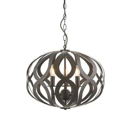 Sirolo 3 Light Pendant in Antique Bronze Finish