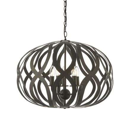 Sirolo 5 Light Pendant in Antique Bronze Finish