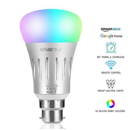 Smart LED Light Bulb Works with Amazon Alexa Echo 6W BC