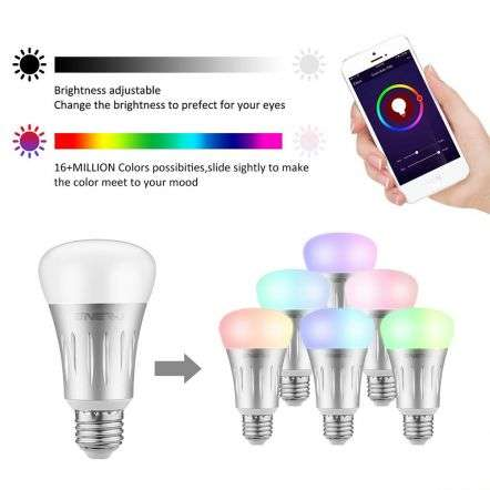 Smart LED Light Bulb Works with Amazon Alexa Echo 6W E27