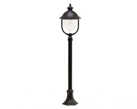 Solar Medium Height Post Lantern Black