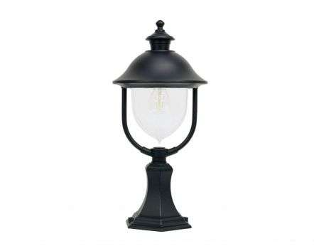 Solar Post Top Lantern Black