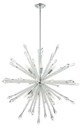 Solaris 10 Light Large Crystal Starburst Pendant