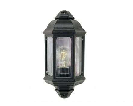 Somis Flush wall Lantern Black