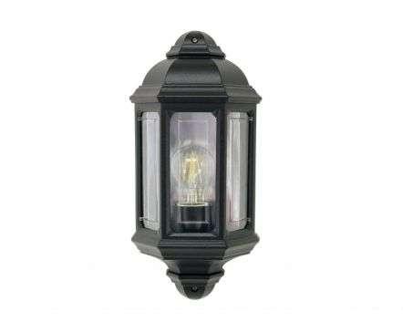 Somis Flush wall Lantern Black