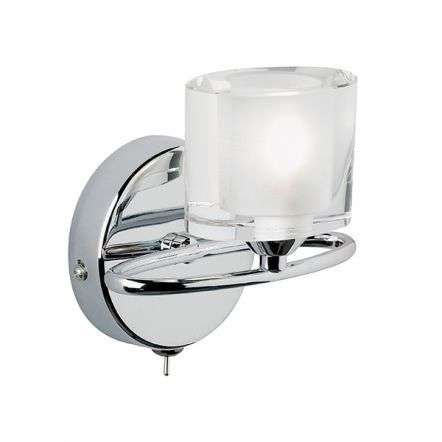 Sonata Single Wall Light in Chrome Finish