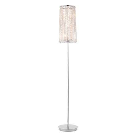 Sophia 3 Light Floor Lamp in Chrome with Clear Crystal