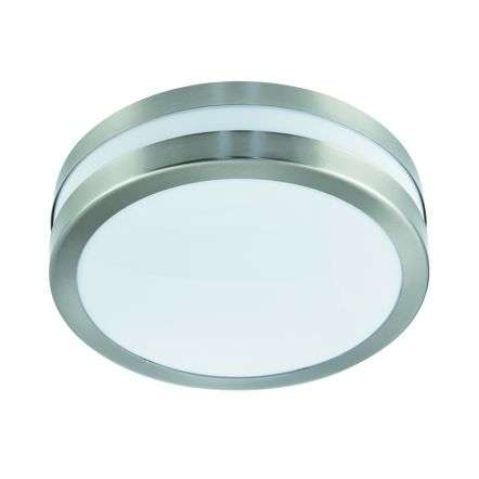 StainlessSteel Ip44 2Light Flush Outdoor With Polycarbonate Diffuser