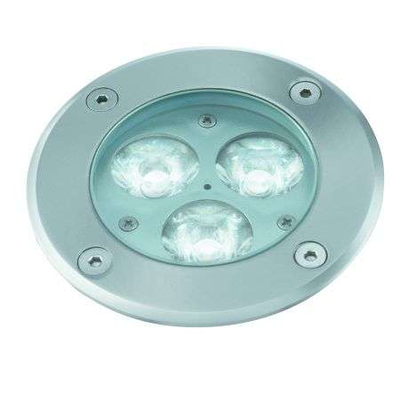 StainlessSteel Ip67 3Led Outdoor Pathway Walkover Glass Light