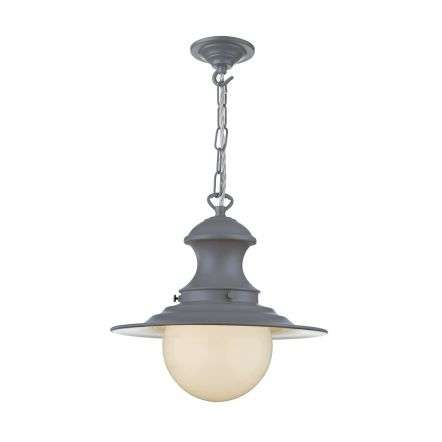 Station Lamp Small Pendant Lead Grey