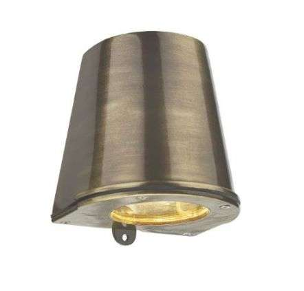 Strait Wall Light D/Lt Antique Brass IP64