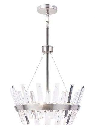 Strata 3 Light Crystal Pendant Satin Chrome
