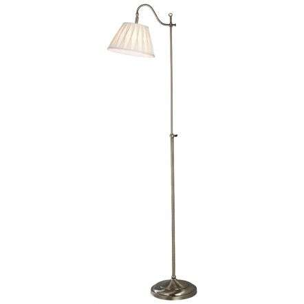 Suffolk Floor Lamp Rise & Fall Antique Brass Ca Shade SUF1433