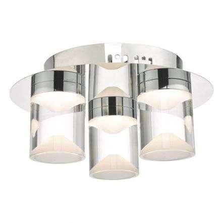 Susa 3lt Flush Polished Chrome & Acrylic LED Bathroom