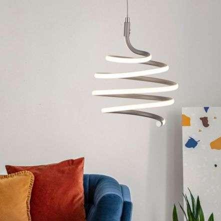 Swirl 28W LED Grey Pendant