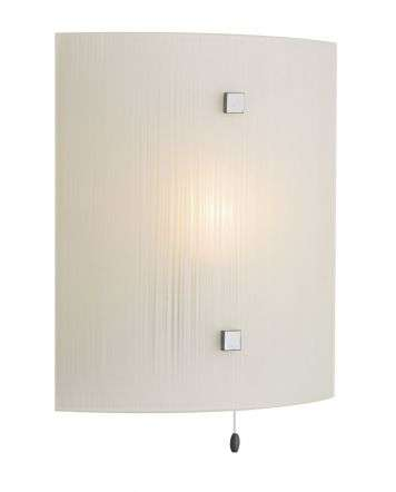 Swirl White Square Wall Light