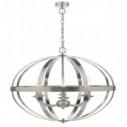 Symbol 6lt Pendant Satin Chrome