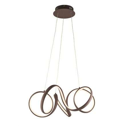 Synergy 44W LED Pendant in Coffee Sand Finish Dia500mm