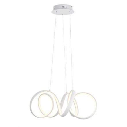 Synergy 44W LED Pendant in Sand White Finish Dia500mm
