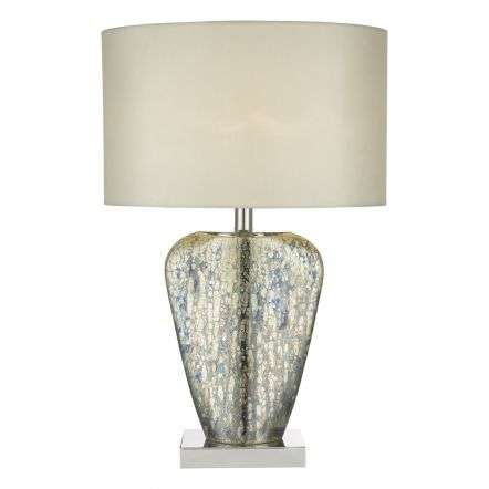 Syracuse Table Lamp Mercury Gold Complete with Shade