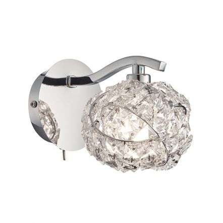 Talia Chrome & Crystal Wall Light