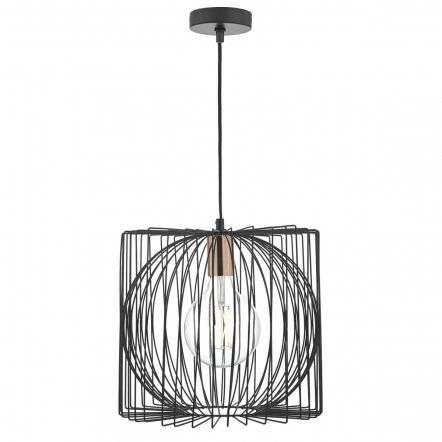 Taplow 1lt Pendant Black & Copper
