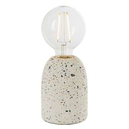 Terrazzo Small White Table Lamp