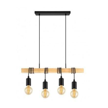 Townshend 4 Light Ceiling Light In Brown And Black