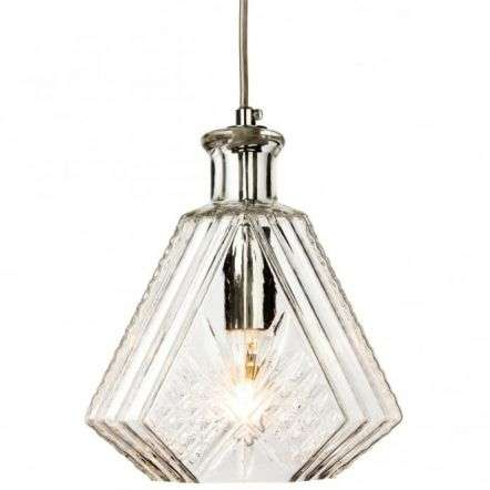 Traditional Antique Chrome Clear Glass Ceiling Lantern