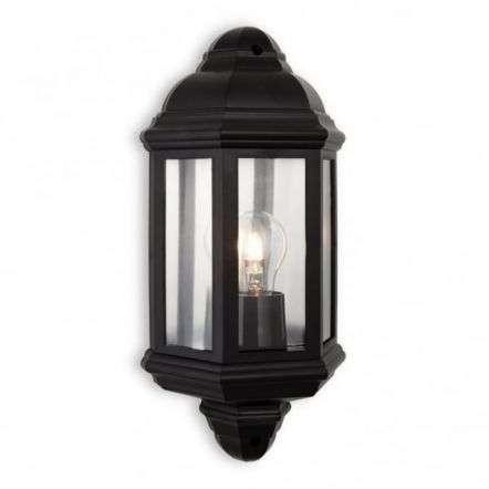 Traditional Black Flush Garden Wall Lantern