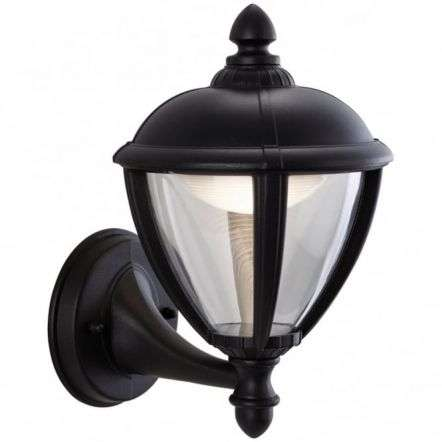 Traditional Black LED Coach Wall Light Lantern