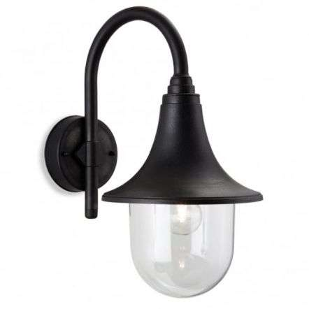 Traditional Black Outdoor Garden Wall Light