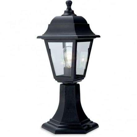 Traditional Black Pillar Top Coach Lantern