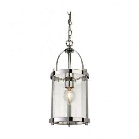 Traditional Chrome Lantern Light Fitting