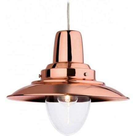 Traditional Copper Metal Fisherman Pendant Light