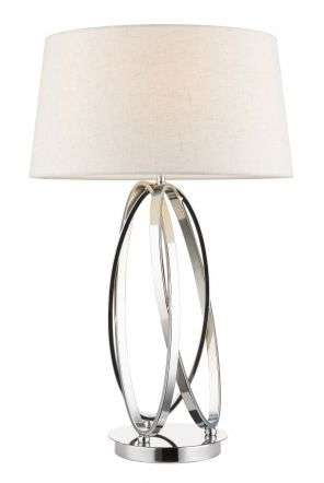 Trinity Table Lamp Polished Chrome c/w Shade
