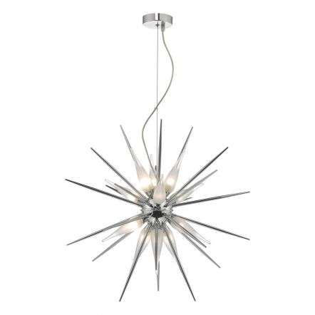 Vasiliy 12lt Pendant Polished Chrome & Glass